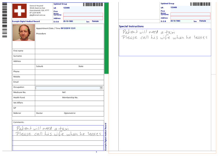 as2828.1 for digital medical record